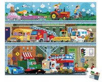 Janod - Puzzle w walizce Pojazdy 100 elementów