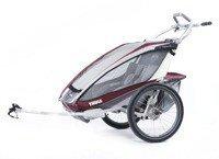 Przyczepka rowerowa dla dzieci, podwójna - THULE Chariot CX2 - czerwona