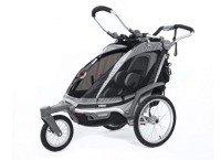 THULE Chariot Chinook 1, wózek/przyczepka rowerowa dla dziecka - czarna
