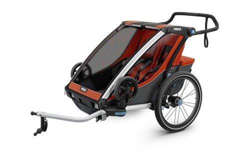 THULE Chariot Cross 2, przyczepka rowerowa dla dziecka - czerwony/szary