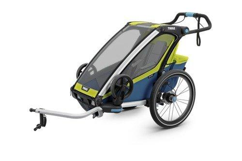 THULE Chariot Sport 1, przyczepka rowerowa dla dziecka - zielony/niebieski