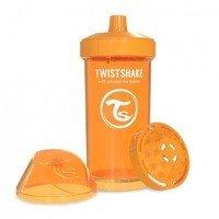 Twistshake - Kubek niekapek z mikserem do owoców, pomarańczowy 360ml