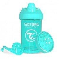 Twistshake - Kubek niekapek z mikserem do owoców, turkusowy 300ml