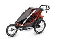 Wózek do biegania - THULE Chariot Cross 1 - czerwony/szary