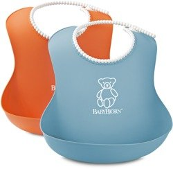 BABYBJORN - 2 śliniaki -  pomarańczowy / turkusowy