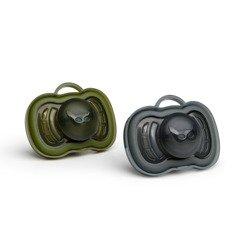 Herobility - smoczek uspokajający HeroPacifier, 6 m+, czarny/zielony, 2 szt.