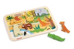 Janod - Układanka drewniana 3D Zoo