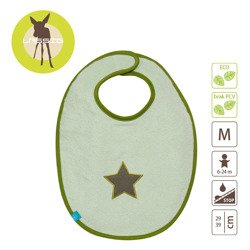 Lassig - Śliniak bawełniany wodoodporny 6-24m Starlight olive