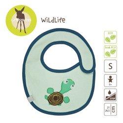 Lassig - Śliniak bawełniany wodoodporny Wildlife Żółw