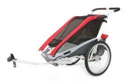 THULE Chariot Cougar 1, przyczepka rowerowa dla dziecka - czerwona