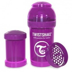 Twistshake - Antykolkowa butelka do karmienia, fioletowa 180ml