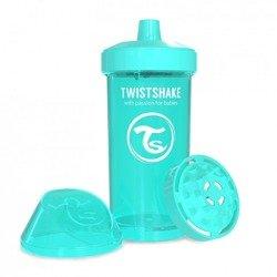 Twistshake - Kubek niekapek z mikserem do owoców, turkusowy 360ml
