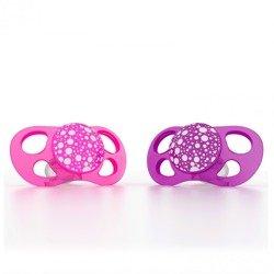 Twistshake - Smoczki uspokajające Mini 0m+, różowy/fioletowy, 2 szt.