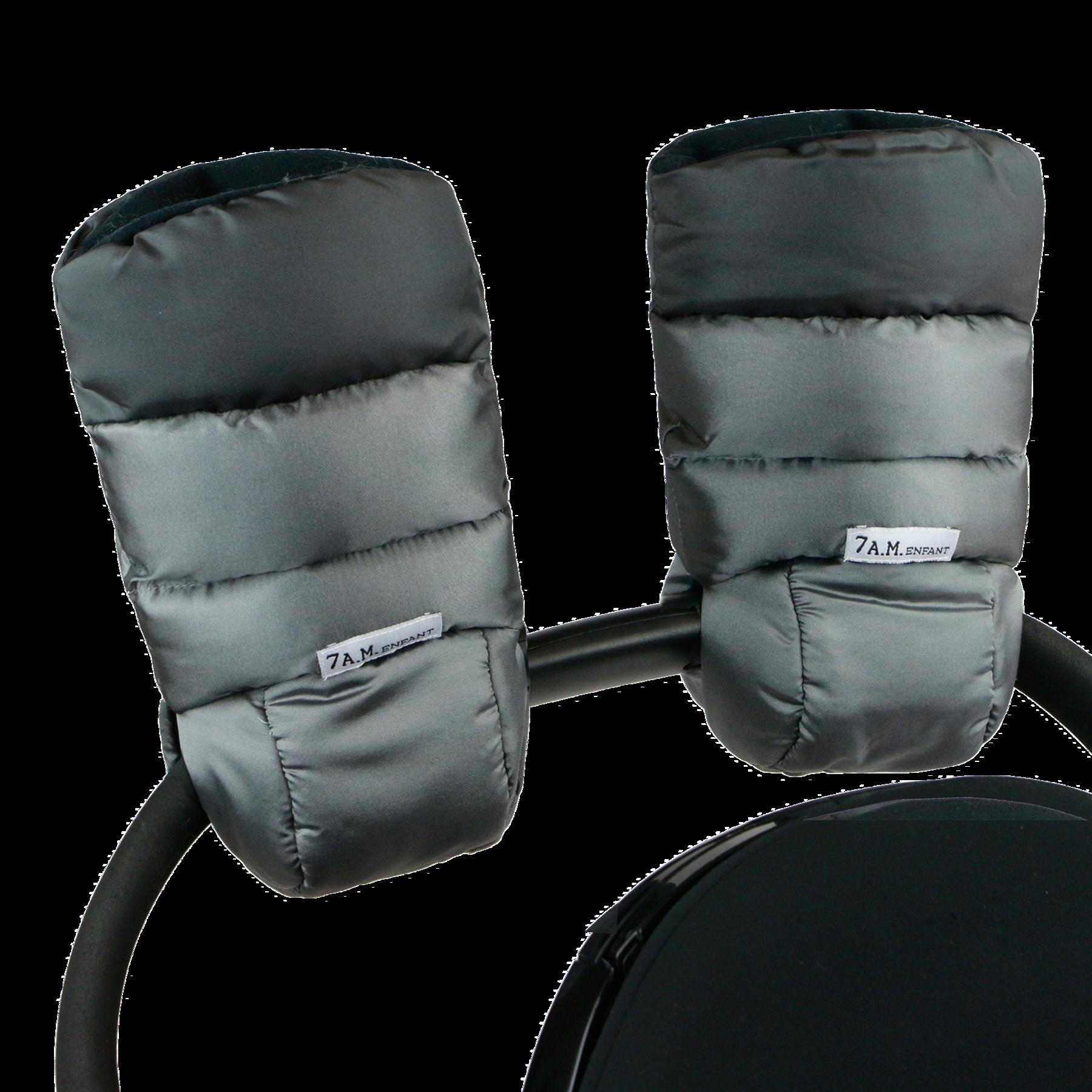 7AM - Mufki do wózka Metallic Silver/Metallic Charcoal
