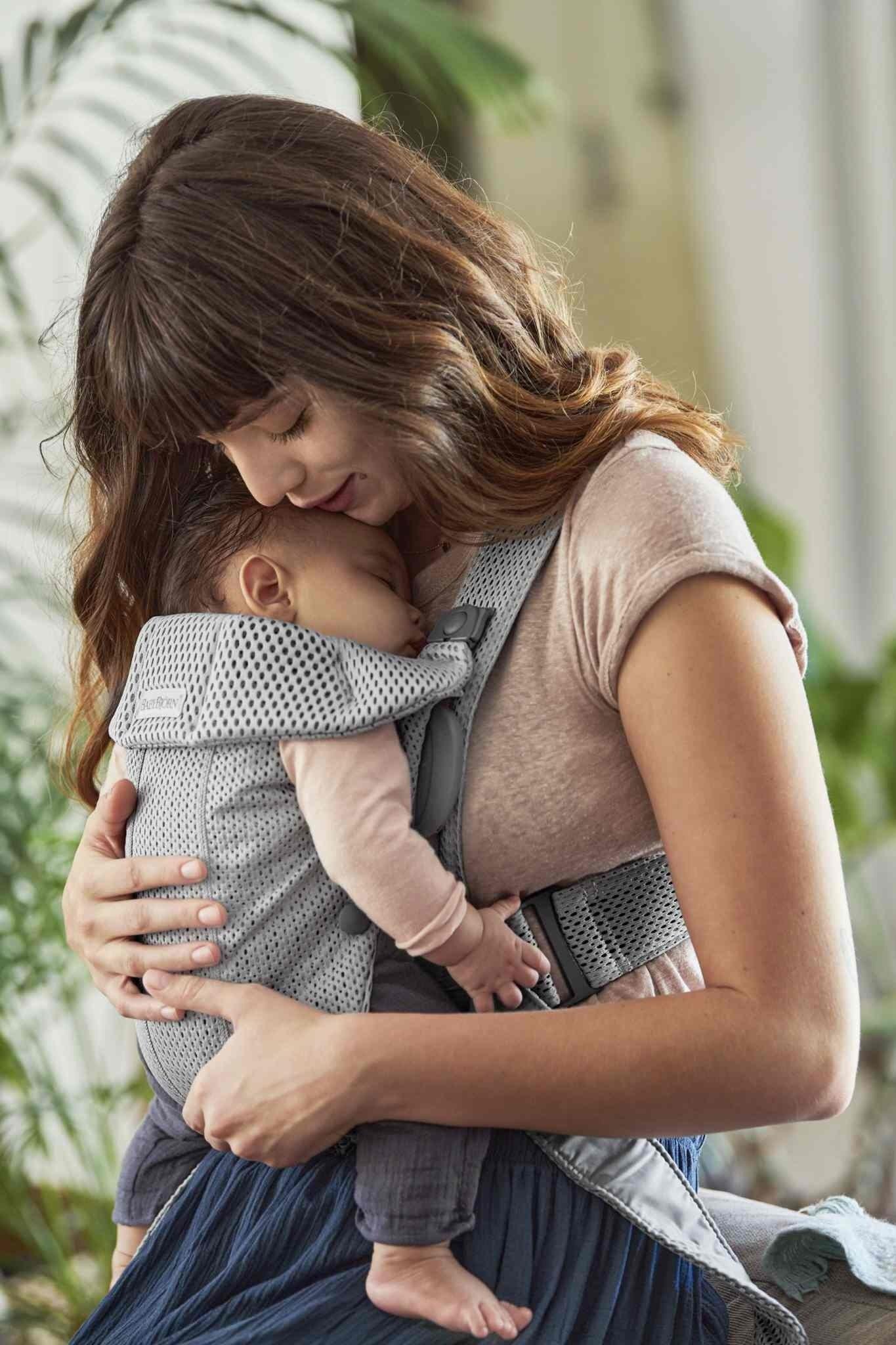 BABYBJORN MINI 3D Mesh – nosidełko, Szary