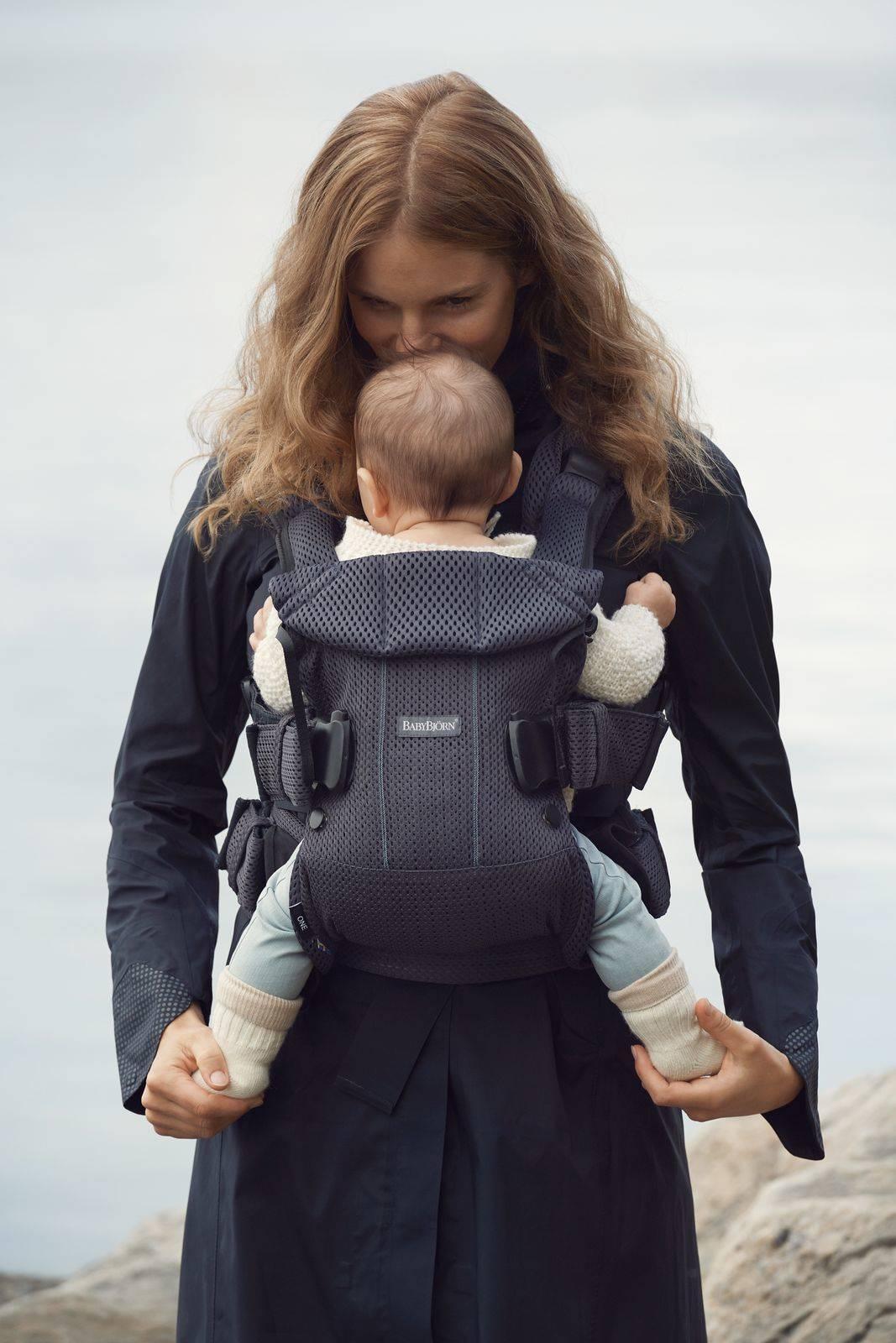 BABYBJORN ONE AIR - nosidełko, Antracyt