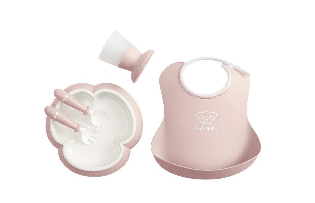 BABYBJORN - Zestaw obiadowy - Powder Pink
