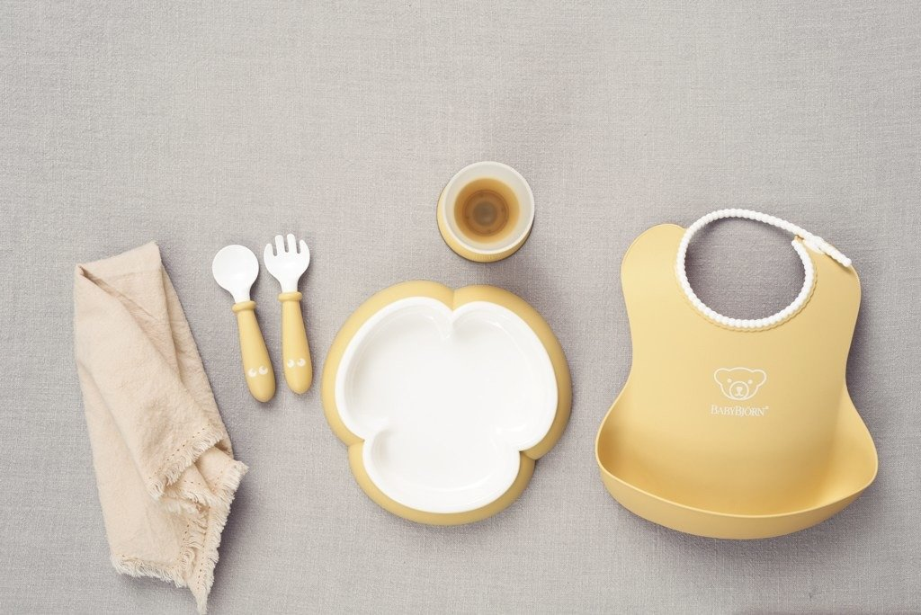 BABYBJORN - Zestaw obiadowy - Powder Yellow