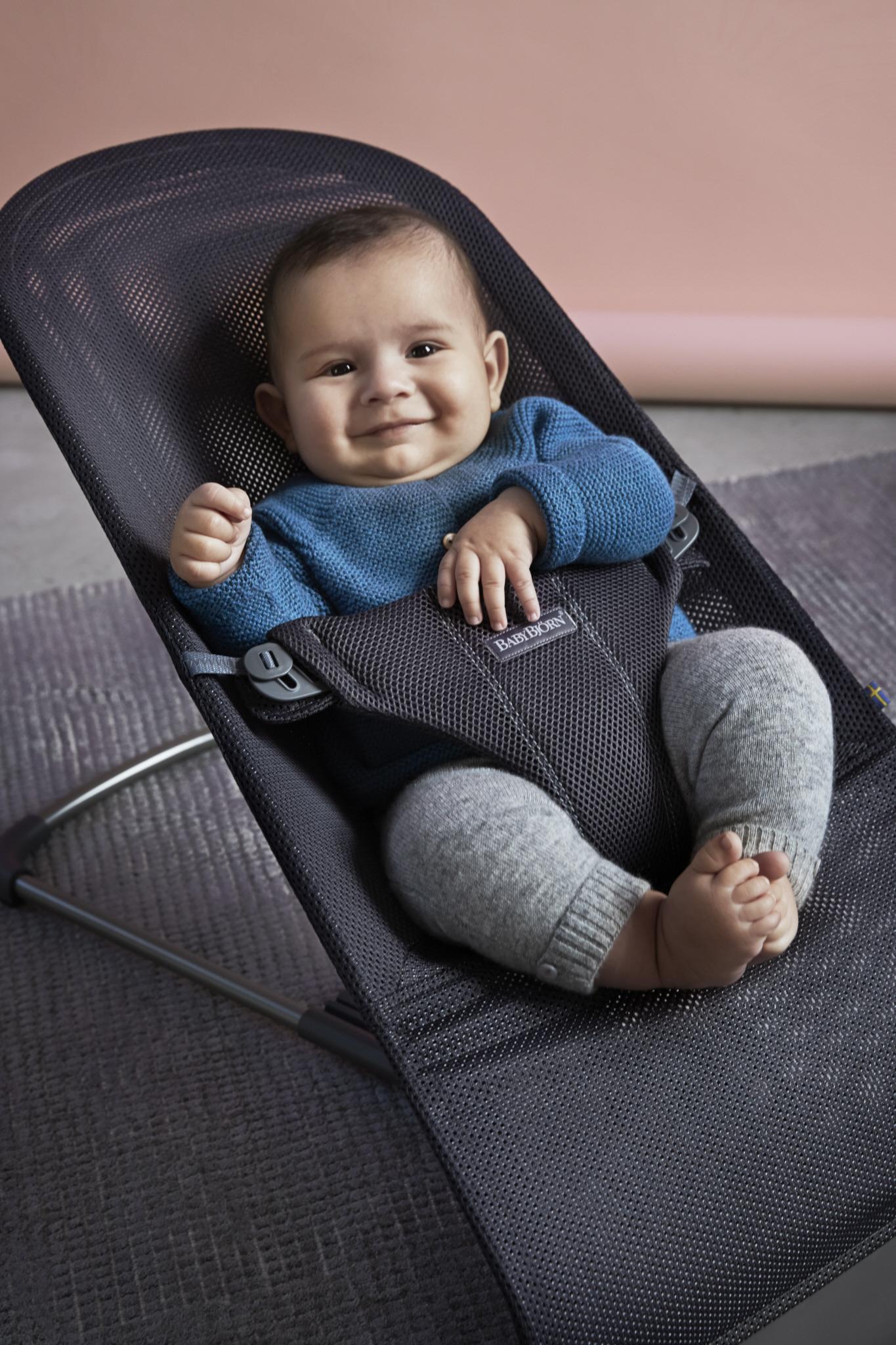 BABYBJORN - leżaczek BLISS MESH - Antracytowy
