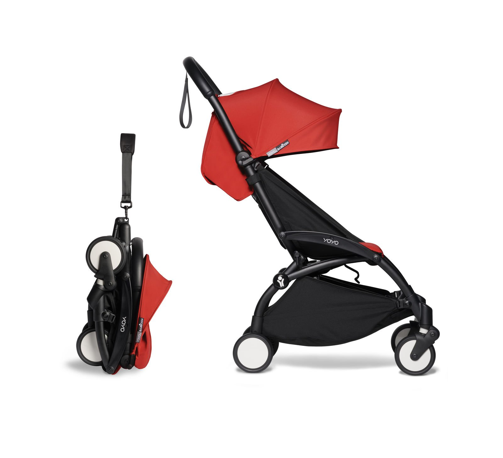 BABYZEN YOYO² - zestaw spacerowy 6+ czarna rama/tapicerka Red