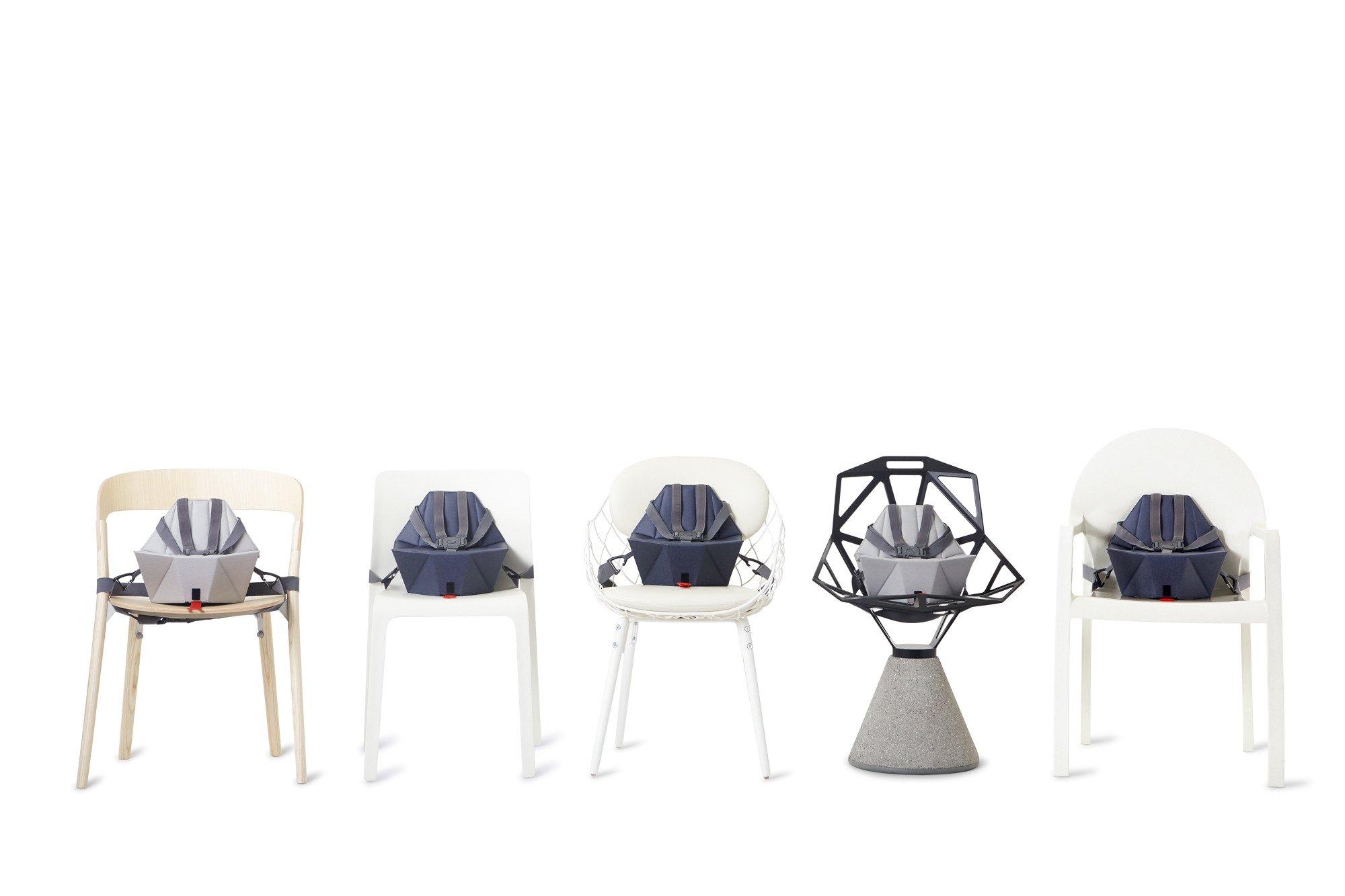 BOMBOL składana nakładka na krzesło - niebieska