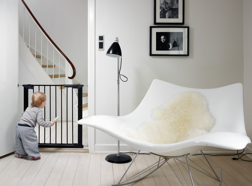 Baby Dan - Bramka ochronna PREMIER + 6 rozszerzeń, czarna