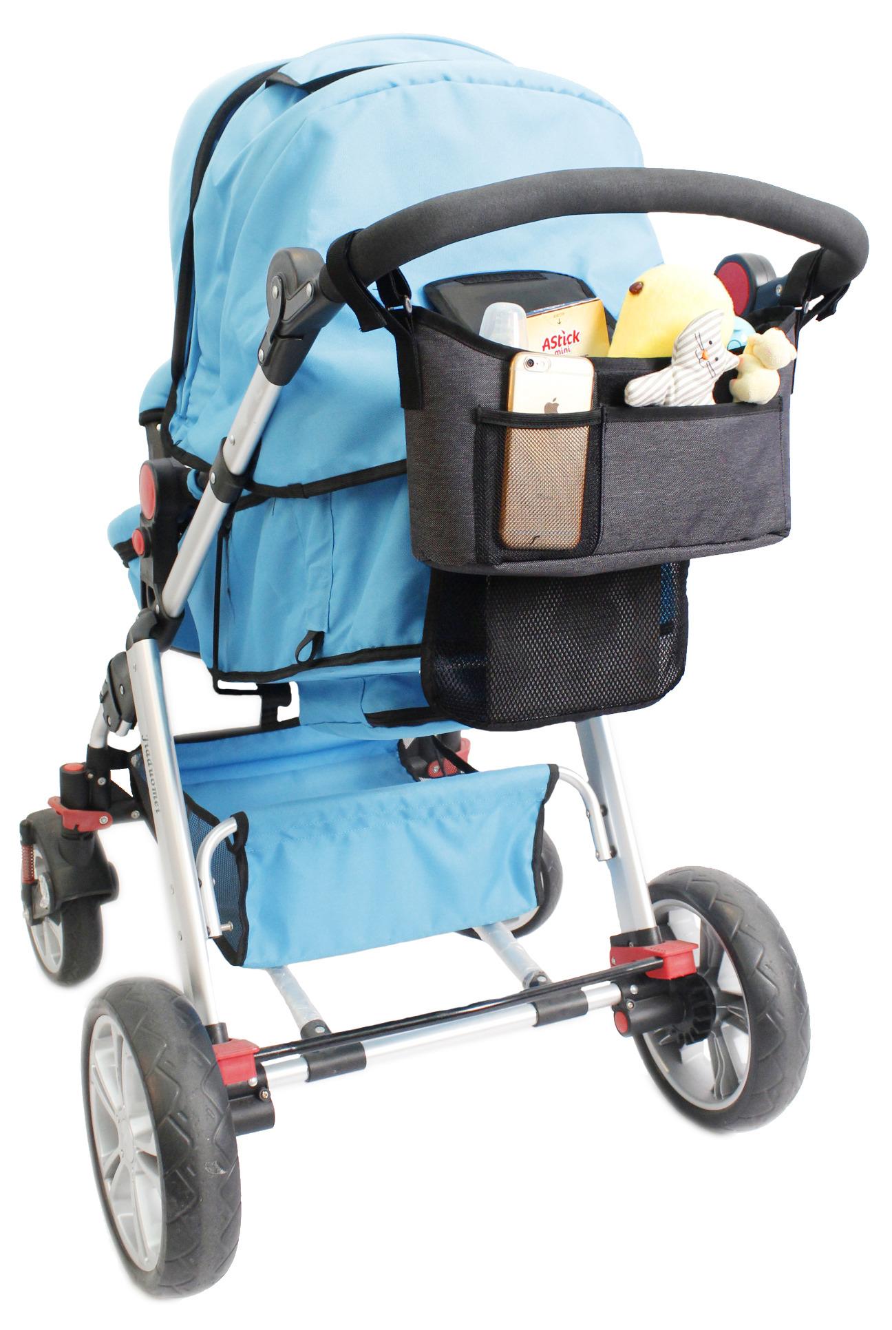 Baby Dan - Organizer do wózka, szary melanż