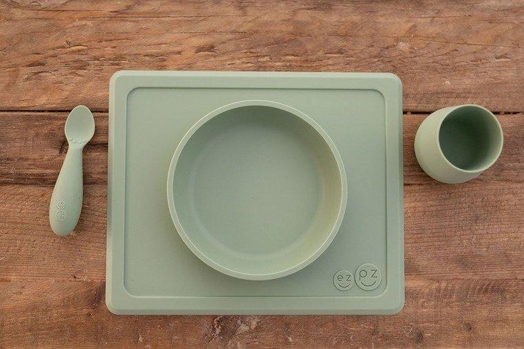 EZPZ - Silikonowa łyżeczka Tiny Spoon 2 szt., pastelowa zieleń