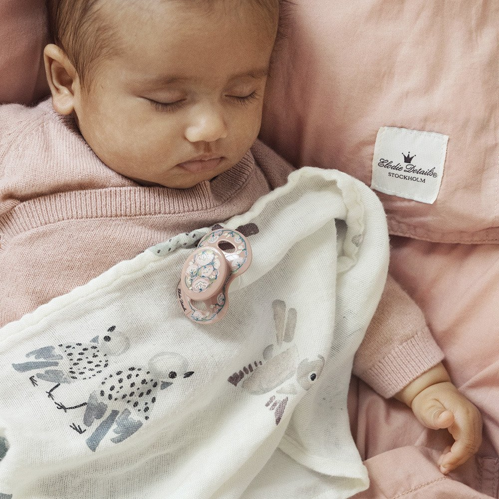 Elodie Details - Smoczek Newborn - Faded Rose Bells