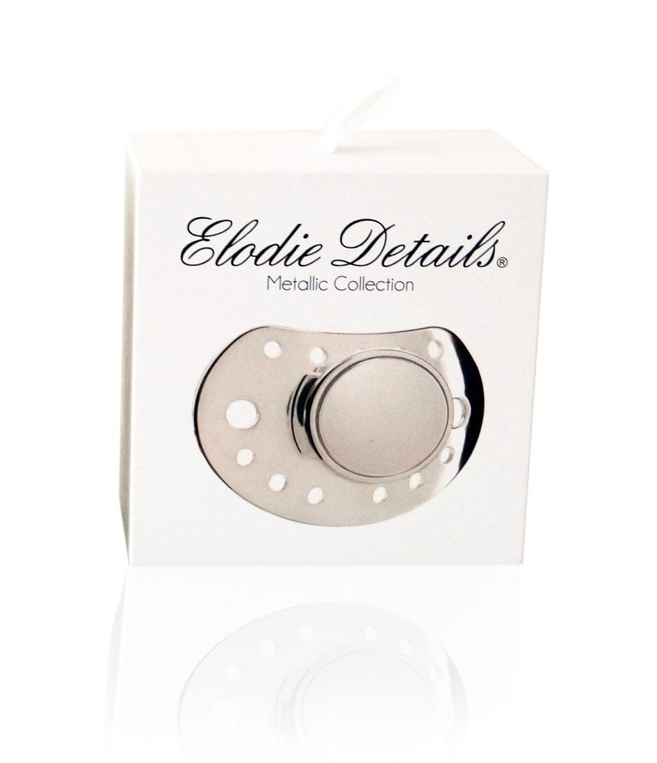 Elodie Details - Smoczek uspokajający 3 m+, Exclusive Silver Edition