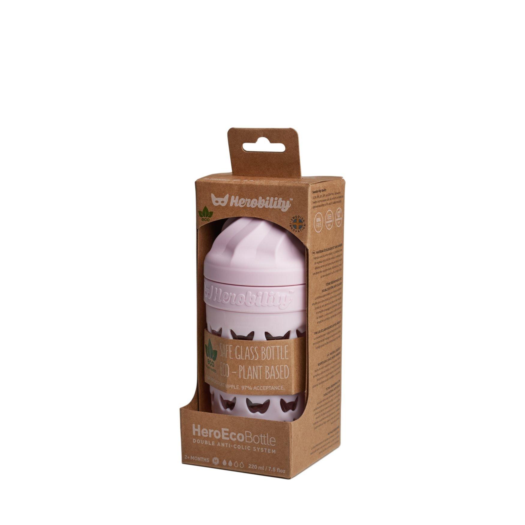 Herobility - butelka antykolkowa HeroEcoBottle - różowa, 220 ml