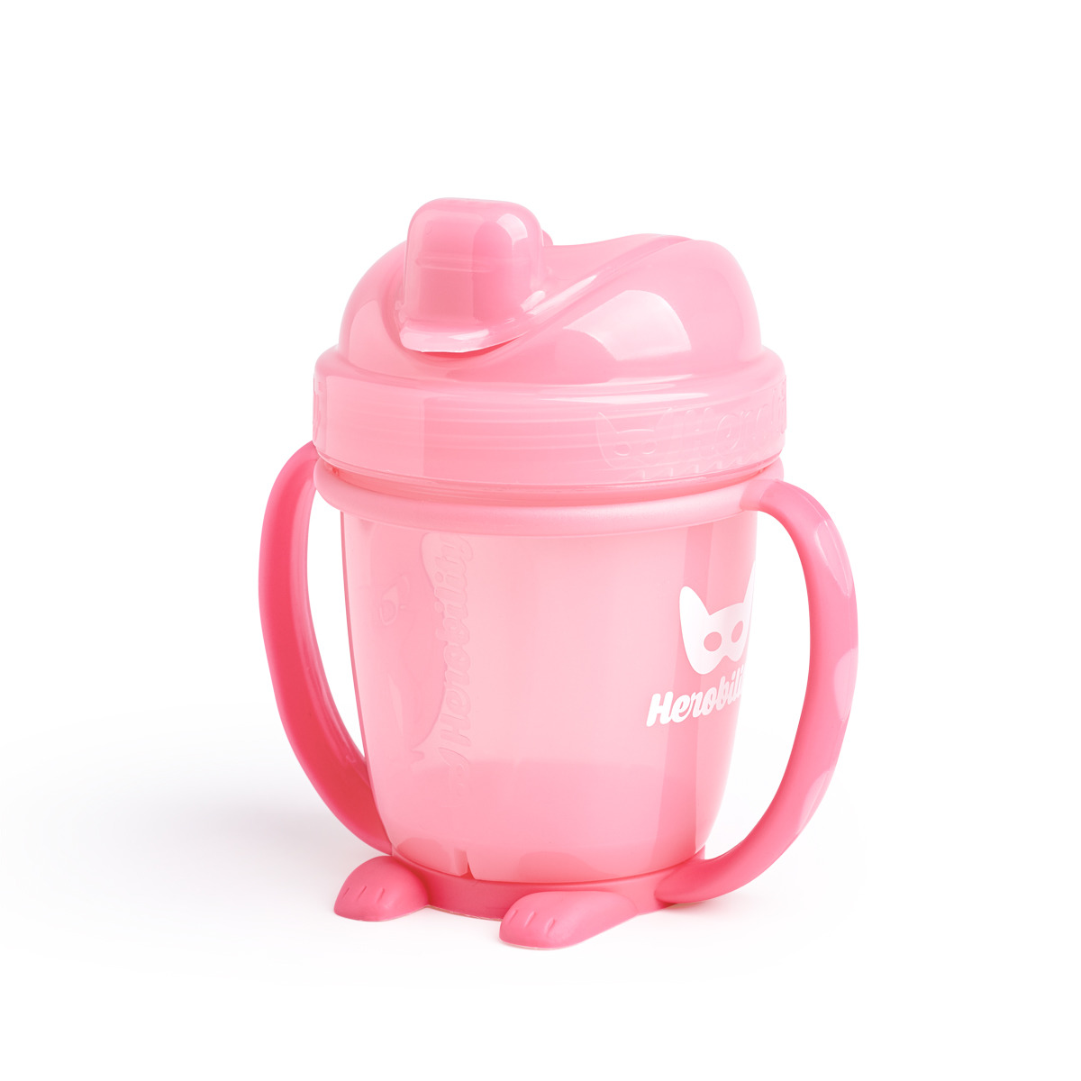 Herobility – kubek niekapek HeroSippy 140 ml, różowy