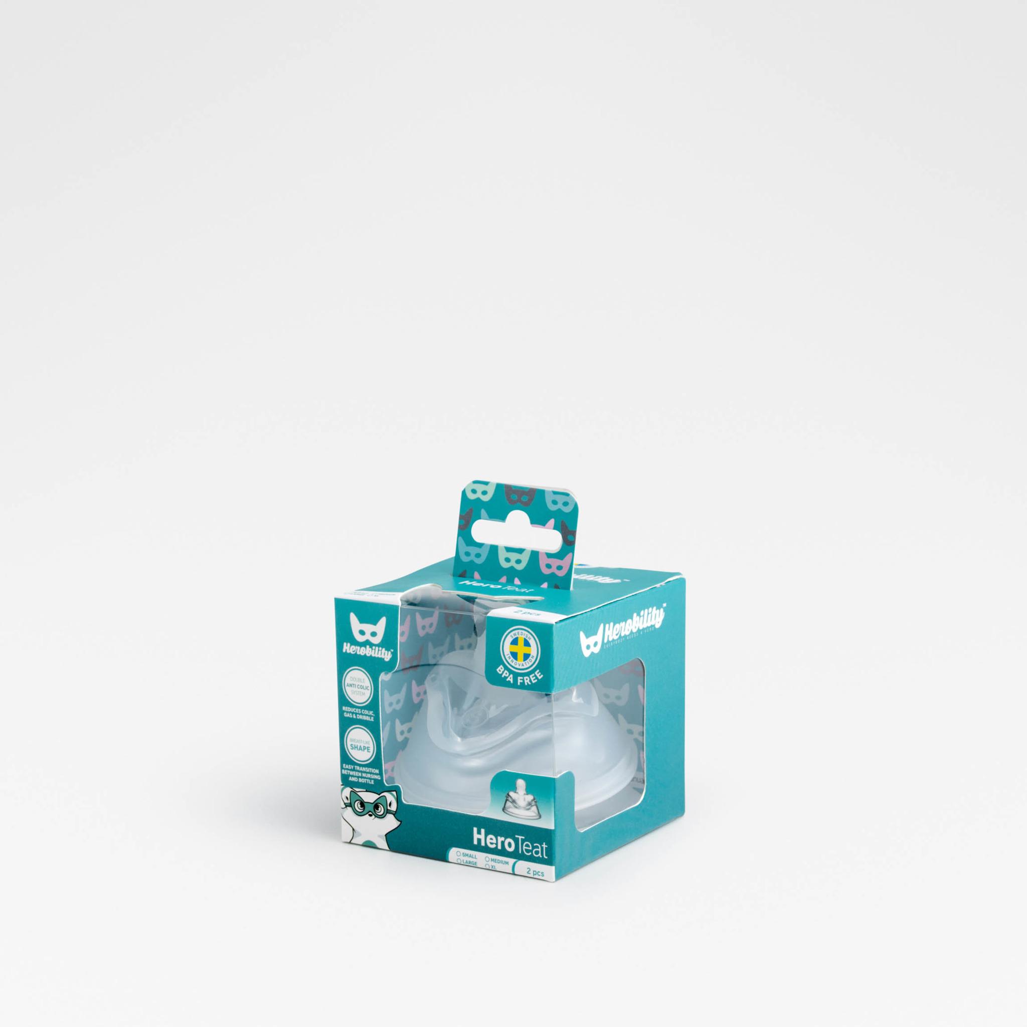 Herobility - smoczek antykolkowy HeroTeat, XL (6 m+), 2 szt.