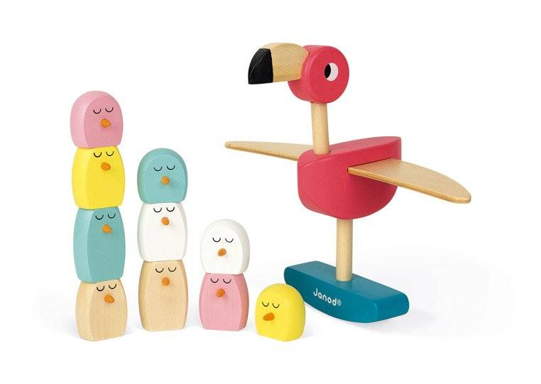 Janod - Gra balansowa drewniana Flamingi