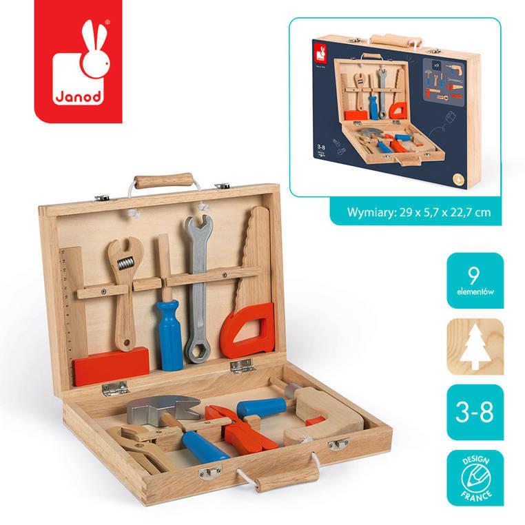 Janod - Walizka z narzędziami Brico 'Kids,