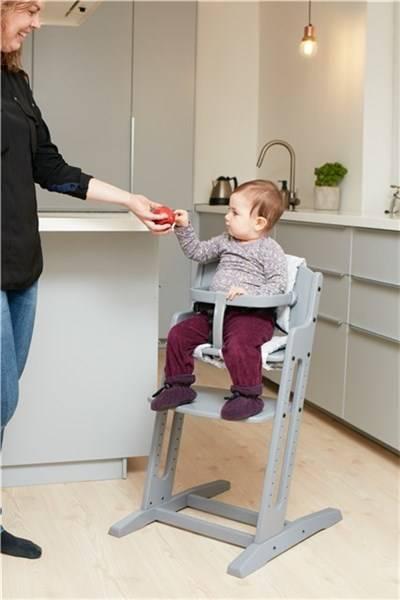 Krzesełko do karmienia Baby Dan DANCHAIR szare