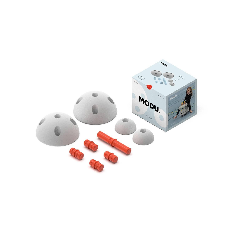 MODU - Half Ball Kit - piankowe półkule rozwijające motorykę dużą, czerwone