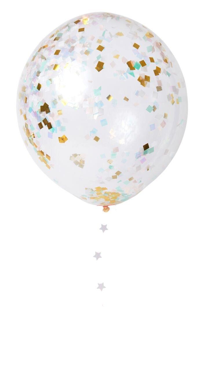 Meri Meri – Zestaw balonów Konfetti opalizujące
