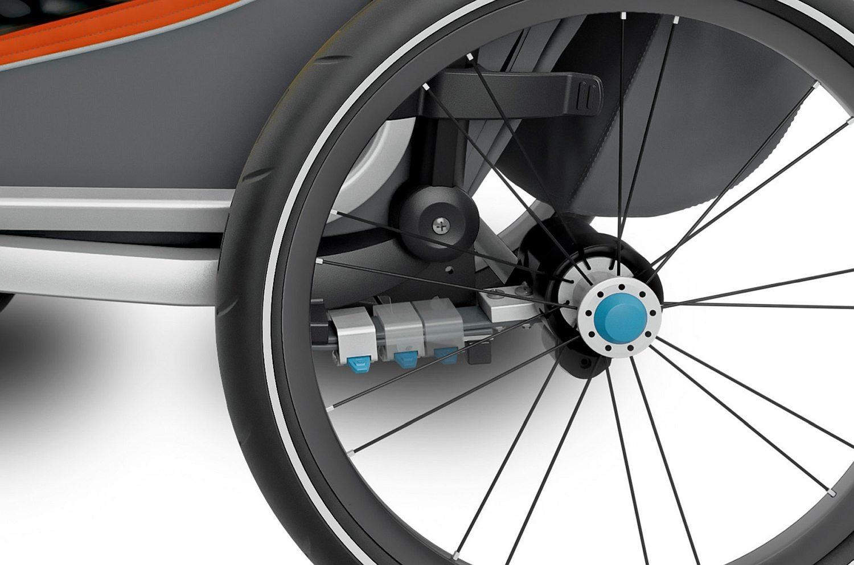 Przyczepka rowerowa dla dziecka - THULE Chariot Cross 2 - czerwona/szara