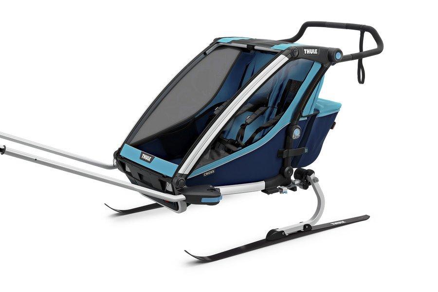 Przyczepka rowerowa dla dziecka - THULE Chariot Cross 2 - niebieska/granatowa