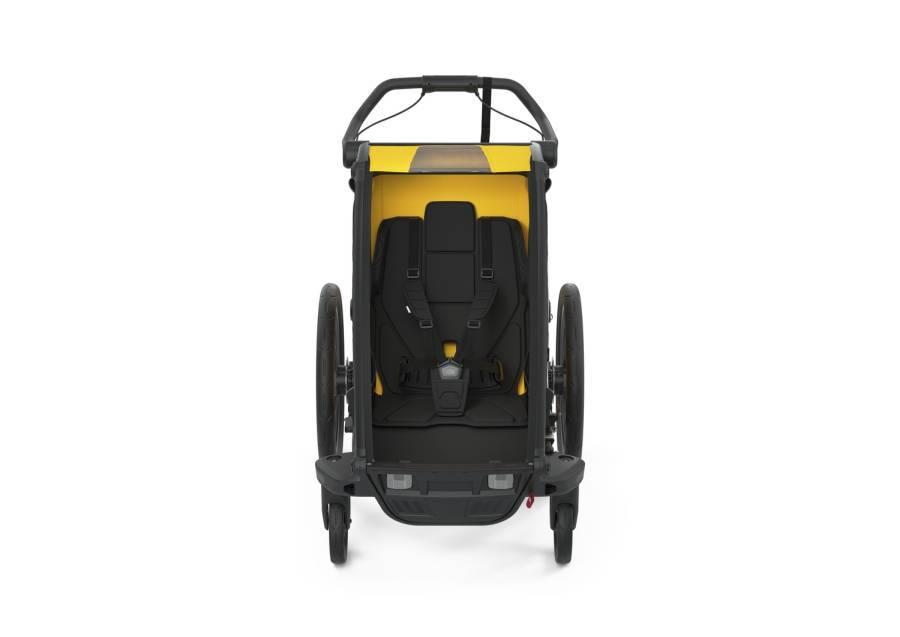 Przyczepka rowerowa dla dziecka - THULE Chariot Sport 1 - Spectra Yellow on Black