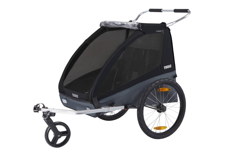 Przyczepka rowerowa dla dziecka, podwójna - THULE Coaster XT - czarna