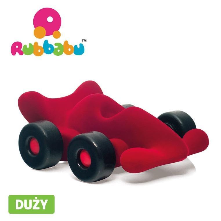 Rubbabu -  Bolid wyścigowy sensoryczny czerwony duży