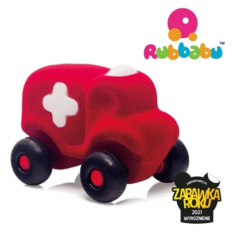 Rubbabu -  Karetka sensoryczna czerwona