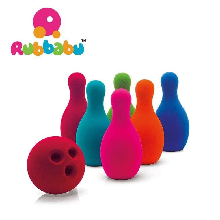 Rubbabu -  Zestaw do gry w kręgle sensoryczny