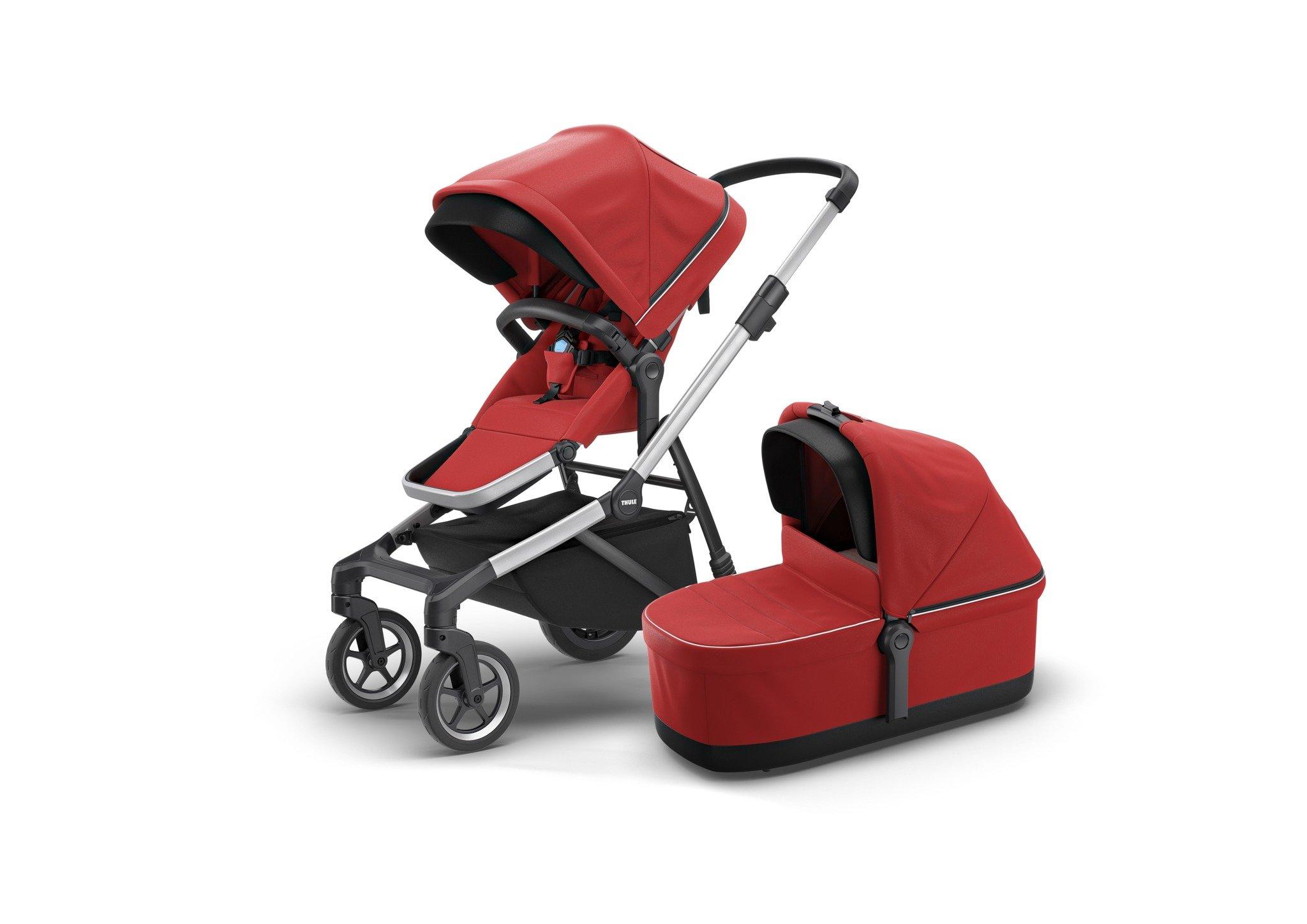 Thule Sleek - zestaw siedzisko spacerowe + gondola - Energy Red