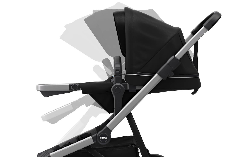Thule Sleek - zestaw siedzisko spacerowe + gondola - Midnight Black