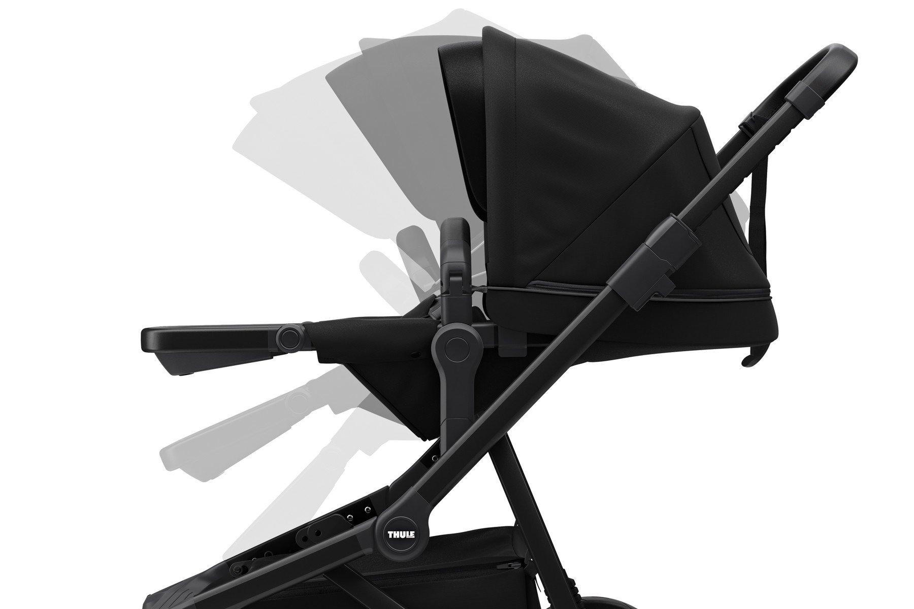 Wózek głęboko spacerowy Thule Sleek Black on Black