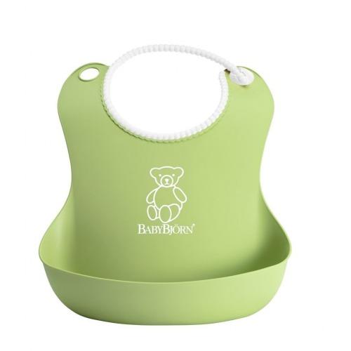 BABYBJORN - 2 śliniaki -  zielony / różowy