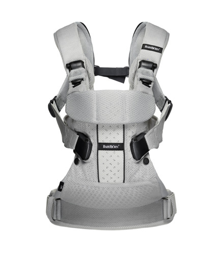 BABYBJORN ONE AIR - nosidełko ergonomiczne, srebrny
